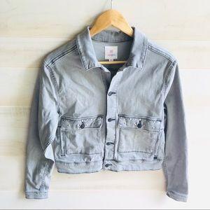 LuLaRoe Jackets & Coats - LuLaRoe Kenny Denim Tiger Patch Jacket
